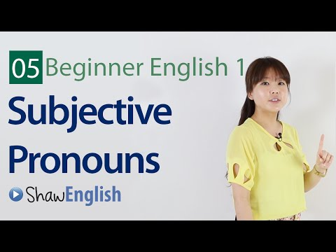 English Grammar: Subjective Pronouns