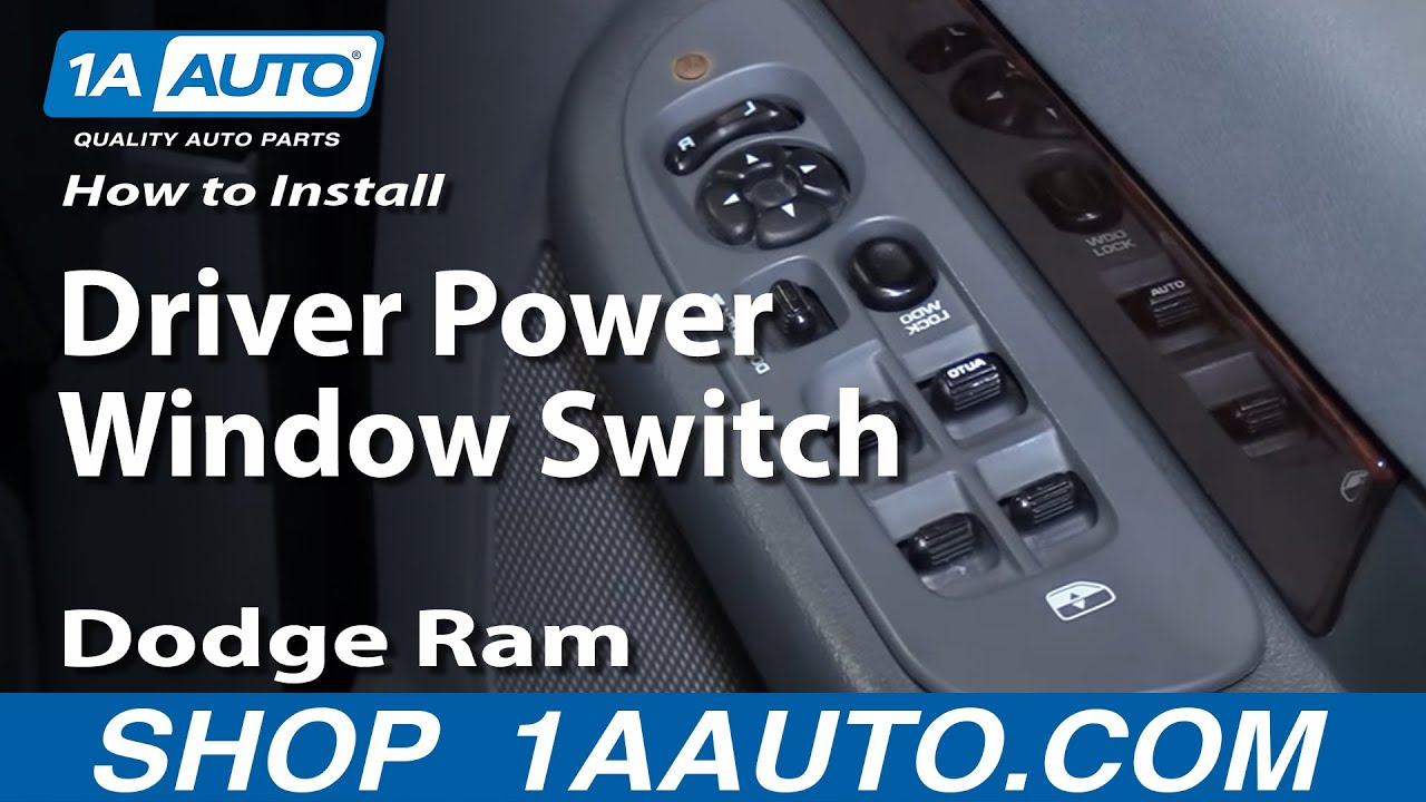 How to Install Repair Replace Driver Power Window Switch Dodge Ram 0208 1AAuto  YouTube