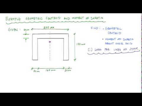 Geometric properties of a channel section (part 1/2: centroid) - Structure  Free