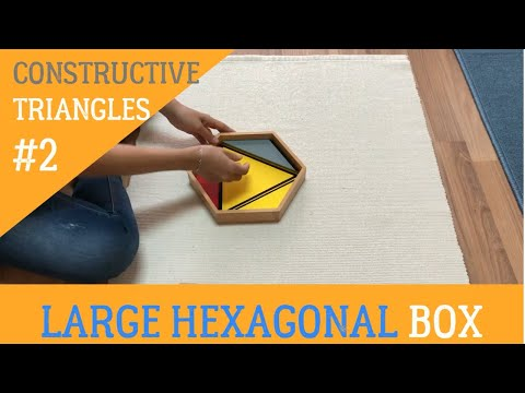 [VMI] SENSORIAL - Constructive Triangles : Large Hexagonal box  - Discrimination of Shape