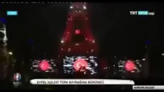 Eyfel Kulesi Kırmızı - Beyaz TÜRKİYE