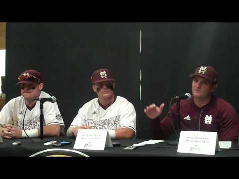Cody Brown, Hunter Stovall, Andy Cannizaro South Alabama postgame 6-4-17
