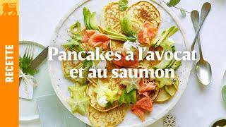 Pancakes à l'avocat et au saumon