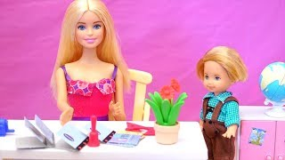 Barbie Toy Episodes for Kids - Family Fun Playtime at Barbie's House, School & w/ Chelsea's Friends