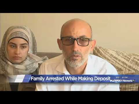 Arab Family Arrested For Depositing Check