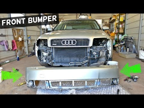 AUDI A4 B6 FRONT BUMPER COVER REMOVAL REPPLACEMENT