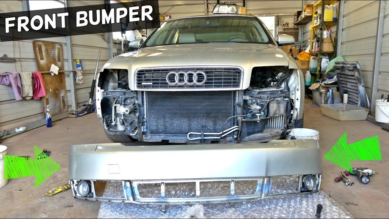 audi a4 b6 front bumper cover removal repplacement youtube rh youtube com 2002 Audi A6 Service Manual Audi A4 Owner's Manual