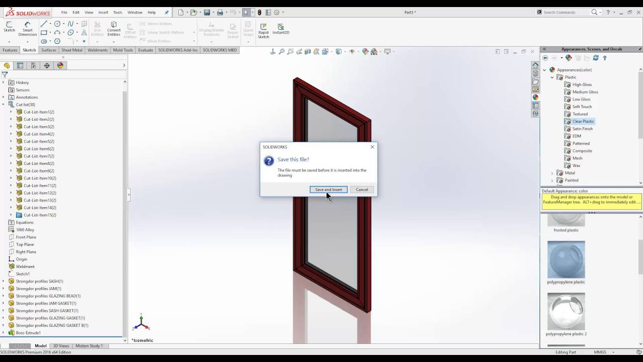 Architectural window & door systems in SOLIDWORKS - YouTube