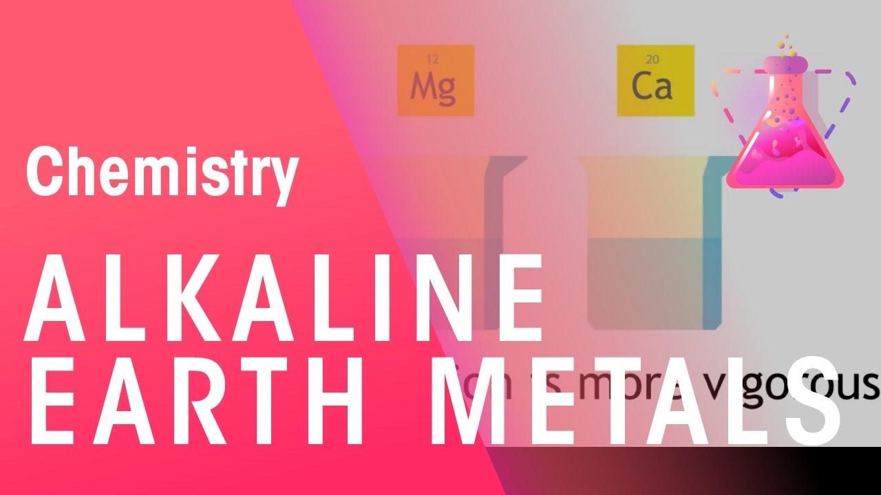 Alkaline Earth Metals Properties Of Matter Chemistry