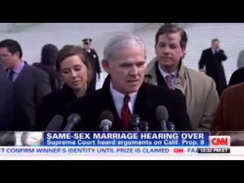 Charles Cooper delivers remarks following Prop 8 argument