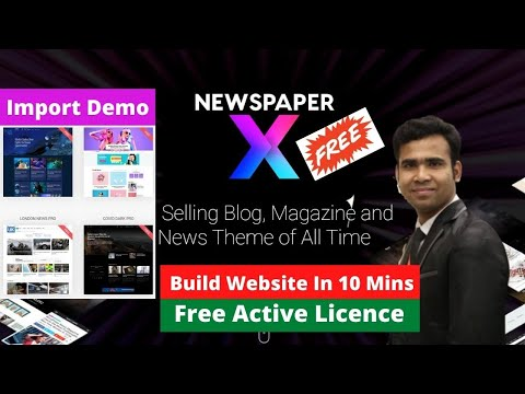 Download Newspaper Magazine Theme Free | How To Build News Portal Website In WordPress In 10 Minutes