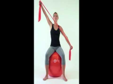 Exercices avec le ballon de gymnastique Sissel Ball - YouTube