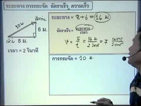 phypat2เคลื่อนที่แนวเส้นตรง การกระจัด 1.2