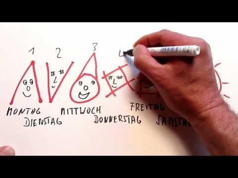 Weekdays  in German   Learn German with Music #01