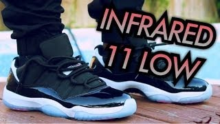 infrared air jordan 11 low w on feet review