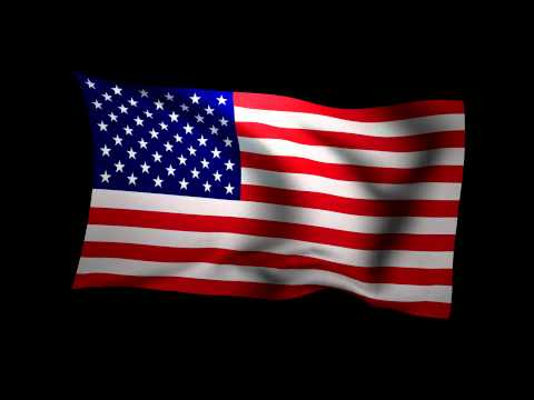 3D Rendering of the flag of the United States waving in the wind.