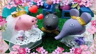 ❤ PEPPA PIG ❤ DANNY DOG SE CASA CON PEPPA PIG Ó EMELY ELEFANTE | Videos y juguetes de Peppa Pig