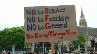 """بريطانيا:عريضة """"مليونية"""" تطالب بإجراء استفتاء ثان حول عضوية الاتحاد الأوروبي"""