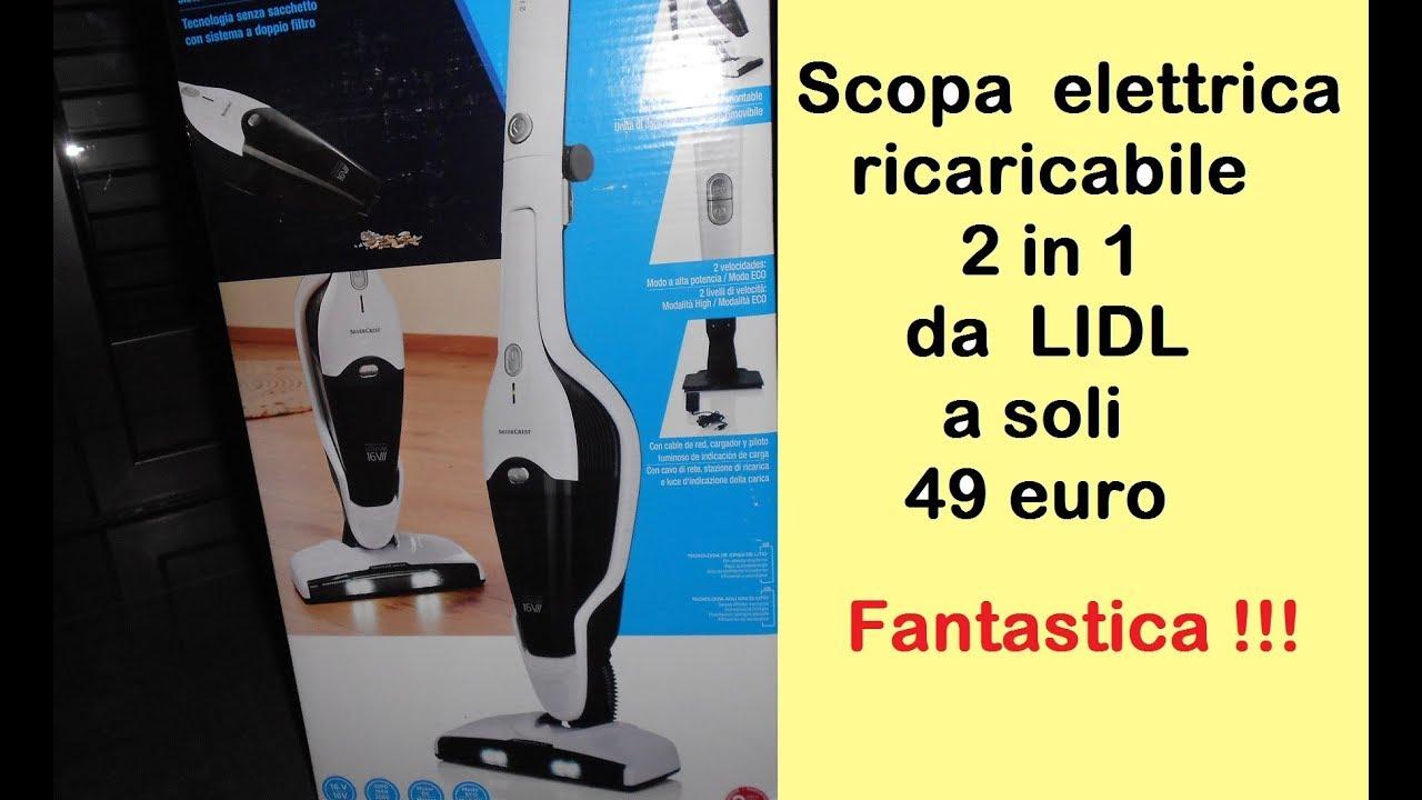 Lidl Scopa Elettrica Senza Filo Ricaricabile 2 In 1 A Soli 49 Euro