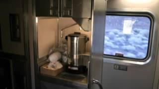 tour of Amtrak superliner sleeper car California Zephyr