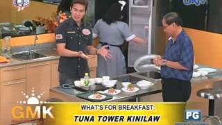 What's For Breakfast: Tuna Tower Kinilaw