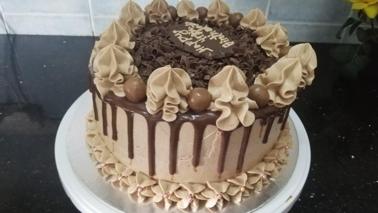 দেড় কেজি ওজনের চকলেট বার্থডে কেক /chocolate birthday cake