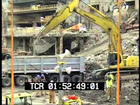 September 11, 2001 World Trade Center aftermath raw stock footage Part 8  PublicDomainFootage.com