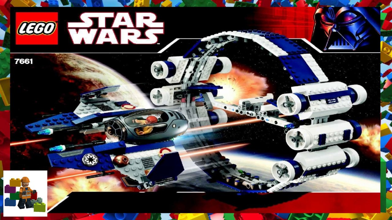 LEGO instructions - Star Wars - 7661 - Jedi Starfighter with Hyperdrive  Booster Ring