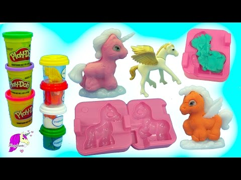 Thumbnail: Make Your Own Dream PlayDoh + Glitter Unicorn, Pegasus Ponies Maker Playset - Video