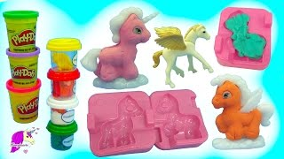 Make your own dream ponies with this glitter doh set. Make unicorns...