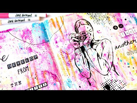 JOURNAL WITH ME / RELAXING ART JOURNALING PROCESS VIDEO 001