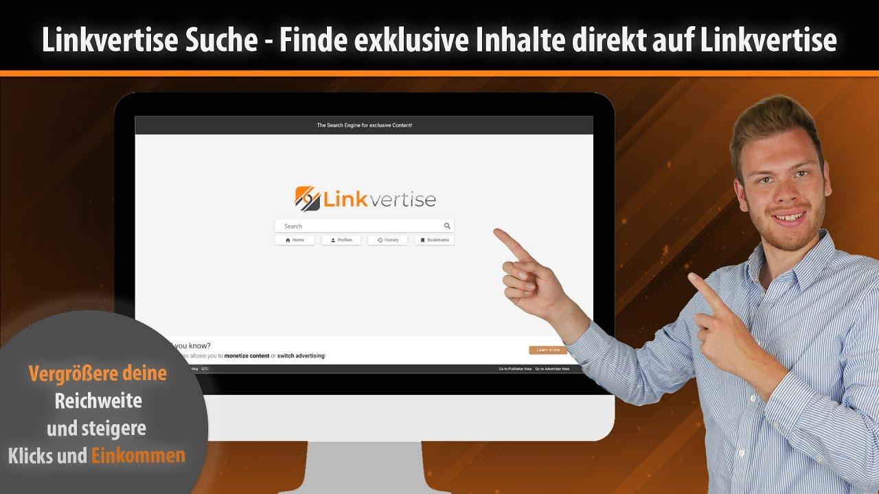 [Linkvertise Suchmaschine] Endlich frei für jeden nutzbar! | Deutsch