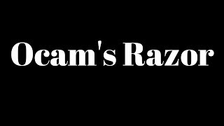 occams razor parsimony in machine learning model selection