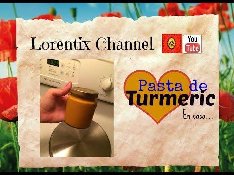 Pasta de Turmeric, curcuma o palillo preparada en Casa I Lorentix