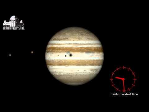 Friday night's rare triple shadow transit of Jupiter
