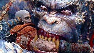 God of War AĮl Death Scenes Bosses, Gods, Titans, Mythological Creatures (PS4) 2018