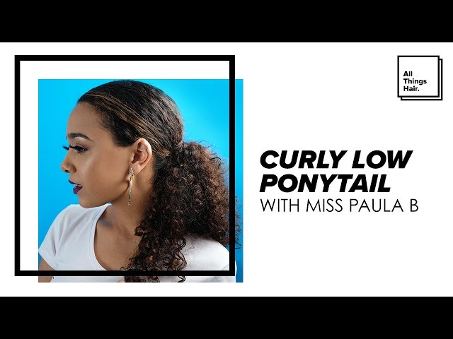Zendaya Inspired Sleek Low Ponytail: Celeb Inspiration #14