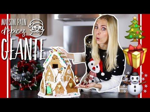 recette-maison-en-pain-d'epices-geante-xxl-|-giant-gingerbread-house