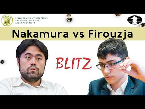 Another top star defeat in Alireza Firouzja's collection - Hikaru Nakamura | World Blitz Ch 2019 |
