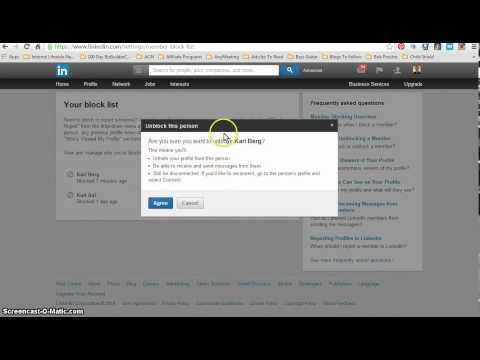 How To Unblock Someone On LinkedIn: Internet Lifestyle Network Video Challenge 82/100