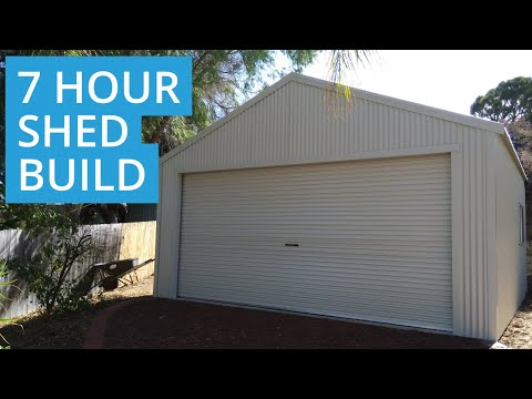 7 Hour Garage Shed Built Video    6m X 6m X 2.7m (Eaves)   Mandurah, WA
