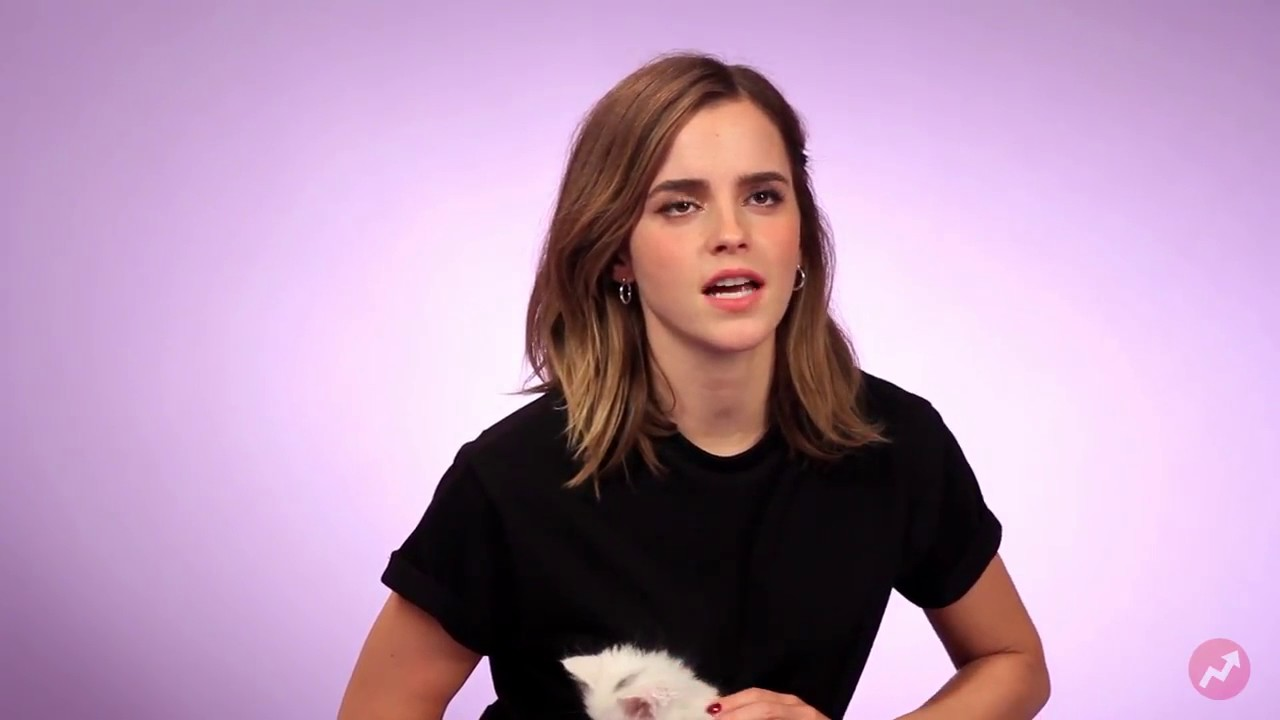 Emma Watson Plays With Kittens While Answering Fan
