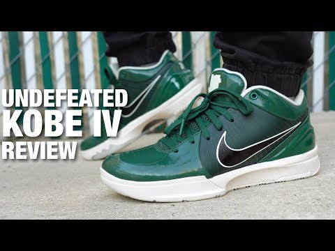 UNDEFEATED x Nike KOBE 4 Protro Milwaukee Bucks REVIEW & ON FEET