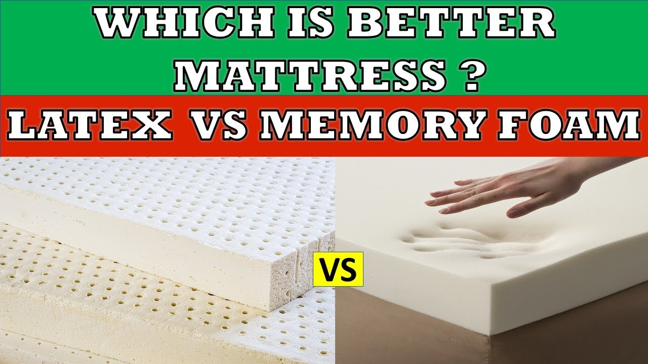 Latex vs Memory Foam Mattress | Which is better and why ? Full