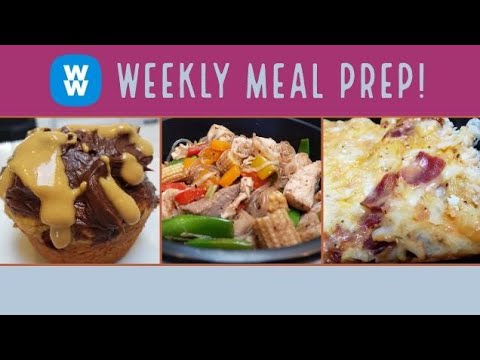 WEEKLY WW MEAL PREP | PB CHOCOLATE MUFFINS | SPECIAL CHOWMEIN | WEIGHT WATCHERS!