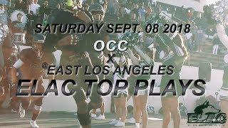 Elac Football 2018   OCC x ELAC  25-14 Final Elac