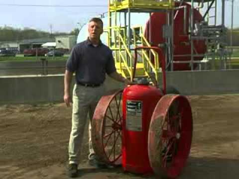 Ansul Wheeled Foam Fire Extinguisher