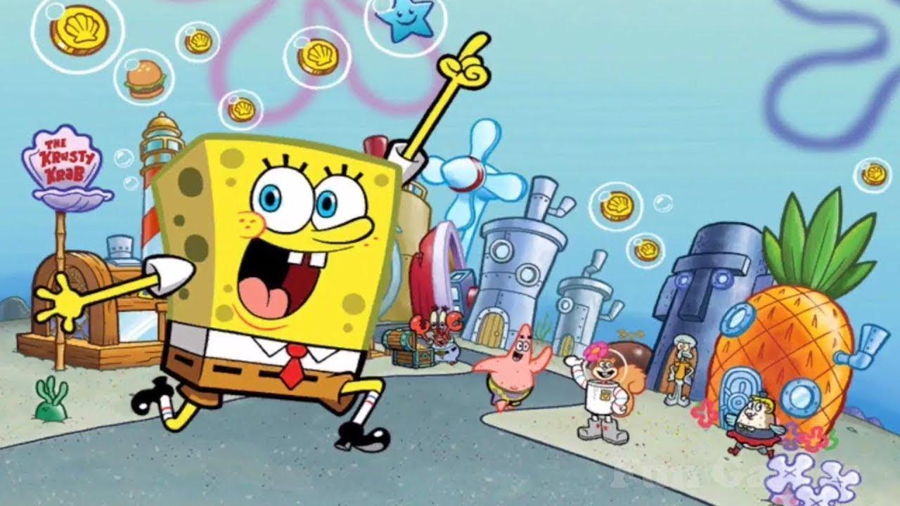 Spongebob Squarepants Kartun Untuk Anak Anak Spongebob Bergerak Di Nick Elodeon Jr