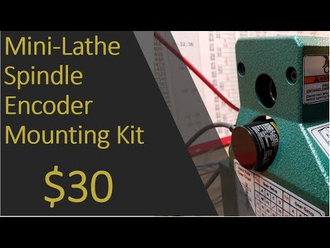 Mini-Lathe Spindle Encoder Mounting Kit for Centroid Acorn CNC: $30