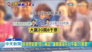 20191208中天新聞 顏清標挺韓!信心喊話:讓韓國瑜在台中贏20萬票